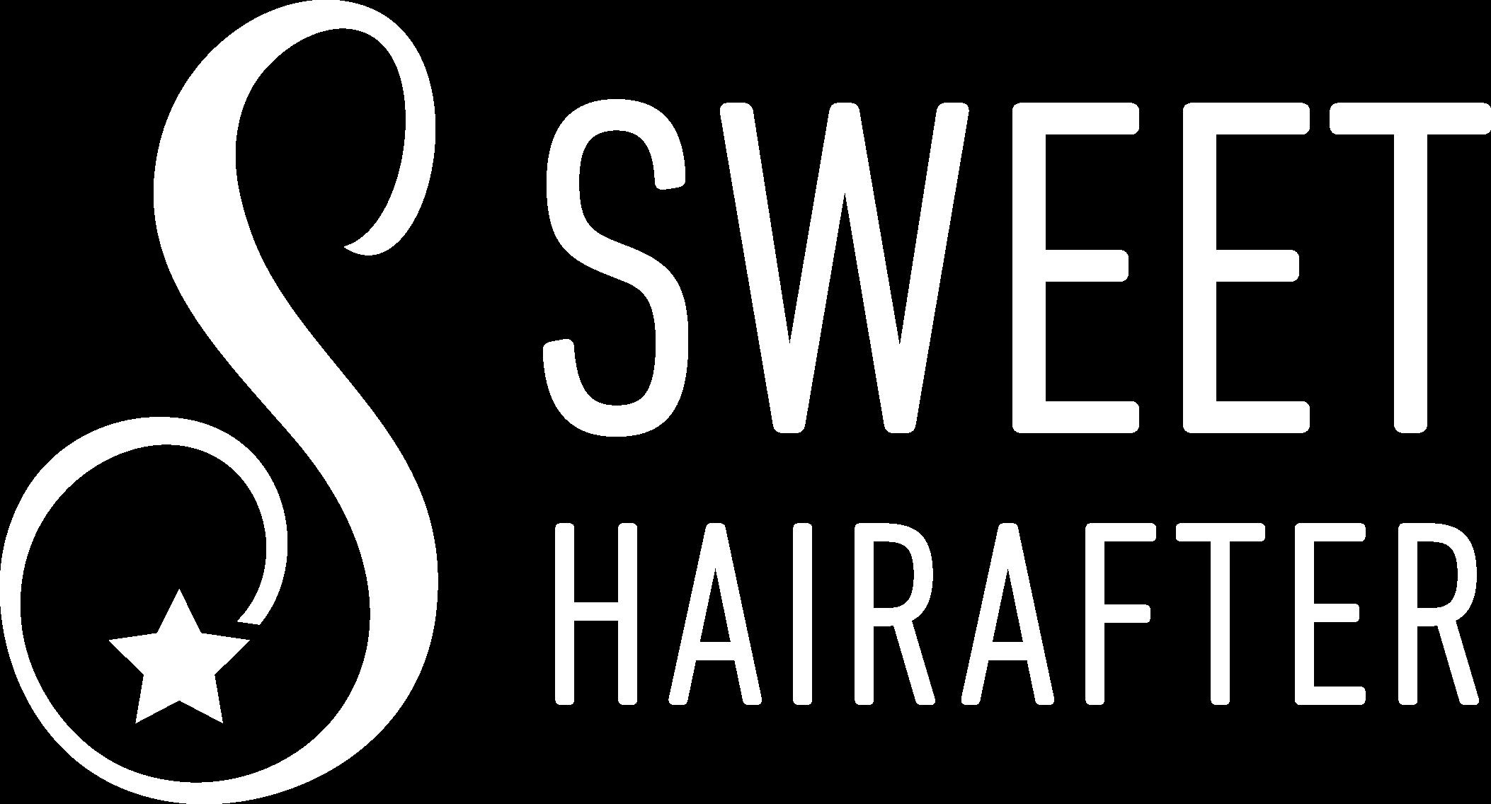 Sweet Hair After Logo White